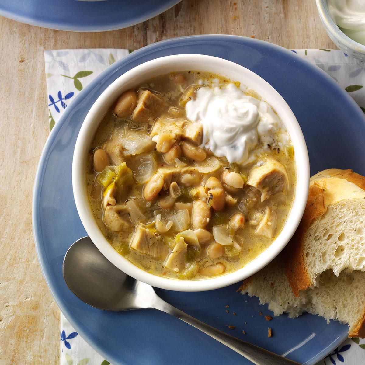Spicy White Chili Recipe How To Make It Taste Of Home