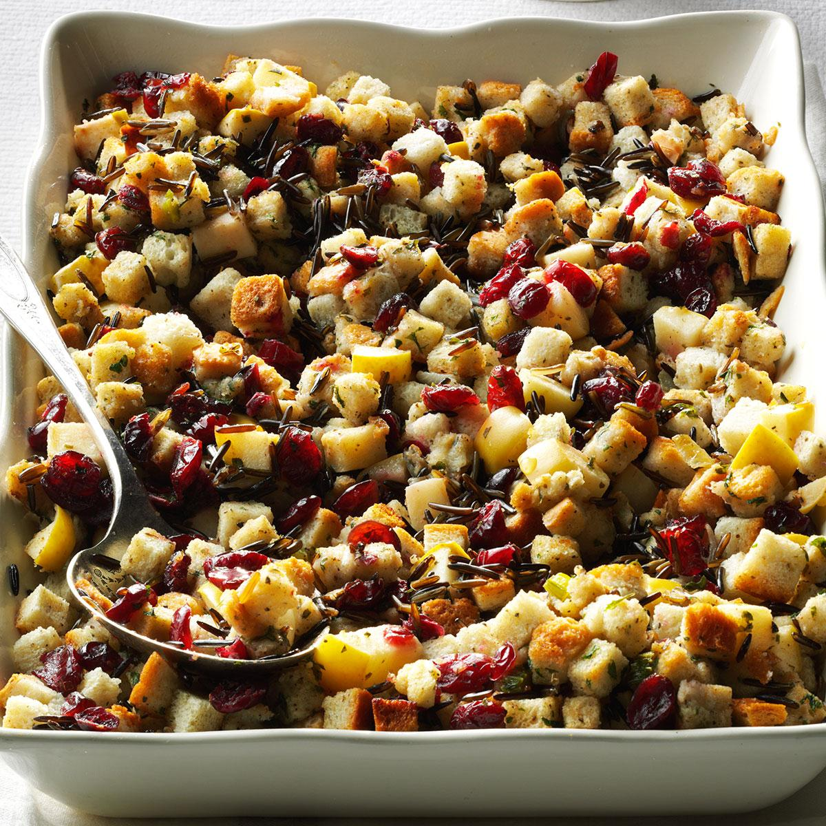 Apple-Cranberry Stuffing image