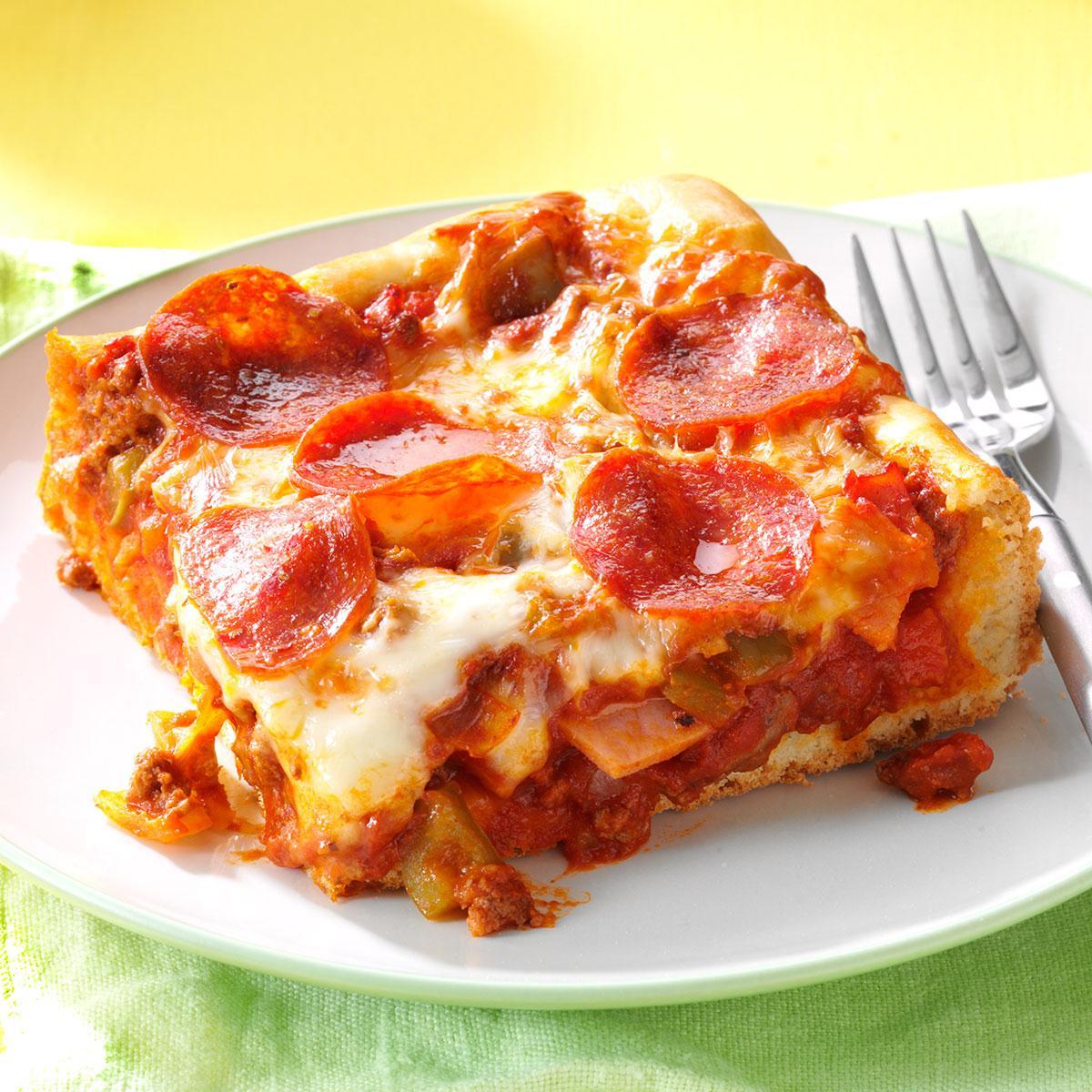 Quick & Easy Deep Dish Pizza image