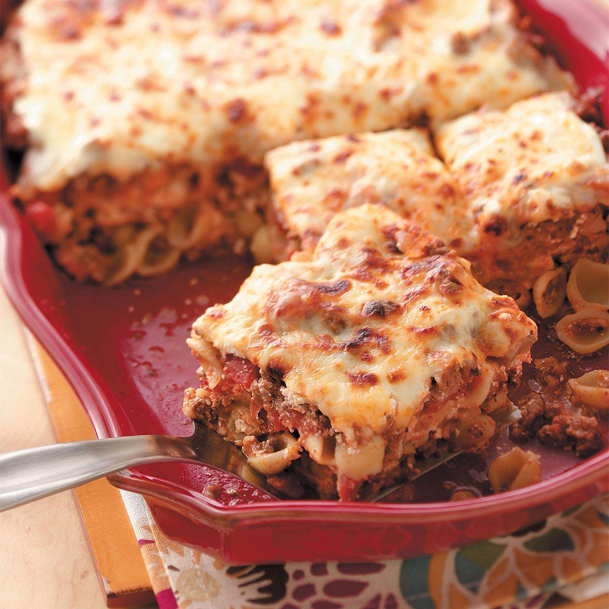 Cheesy Shell Lasagna Recipe How To Make It Taste Of Home