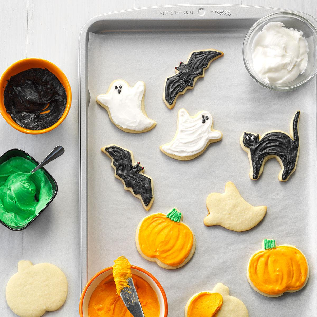How Do You Make Halloween Cookies.Halloween Party Cutout Cookies Recipe How To Make It Taste Of Home