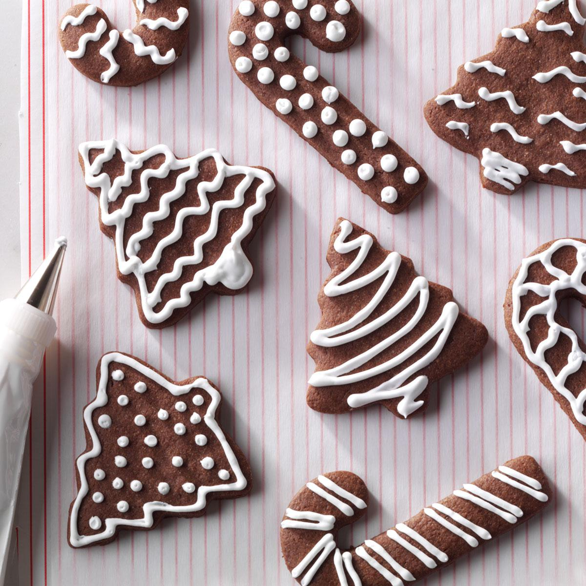 Chocolate Cutout Cookies Recipe Taste Of Home
