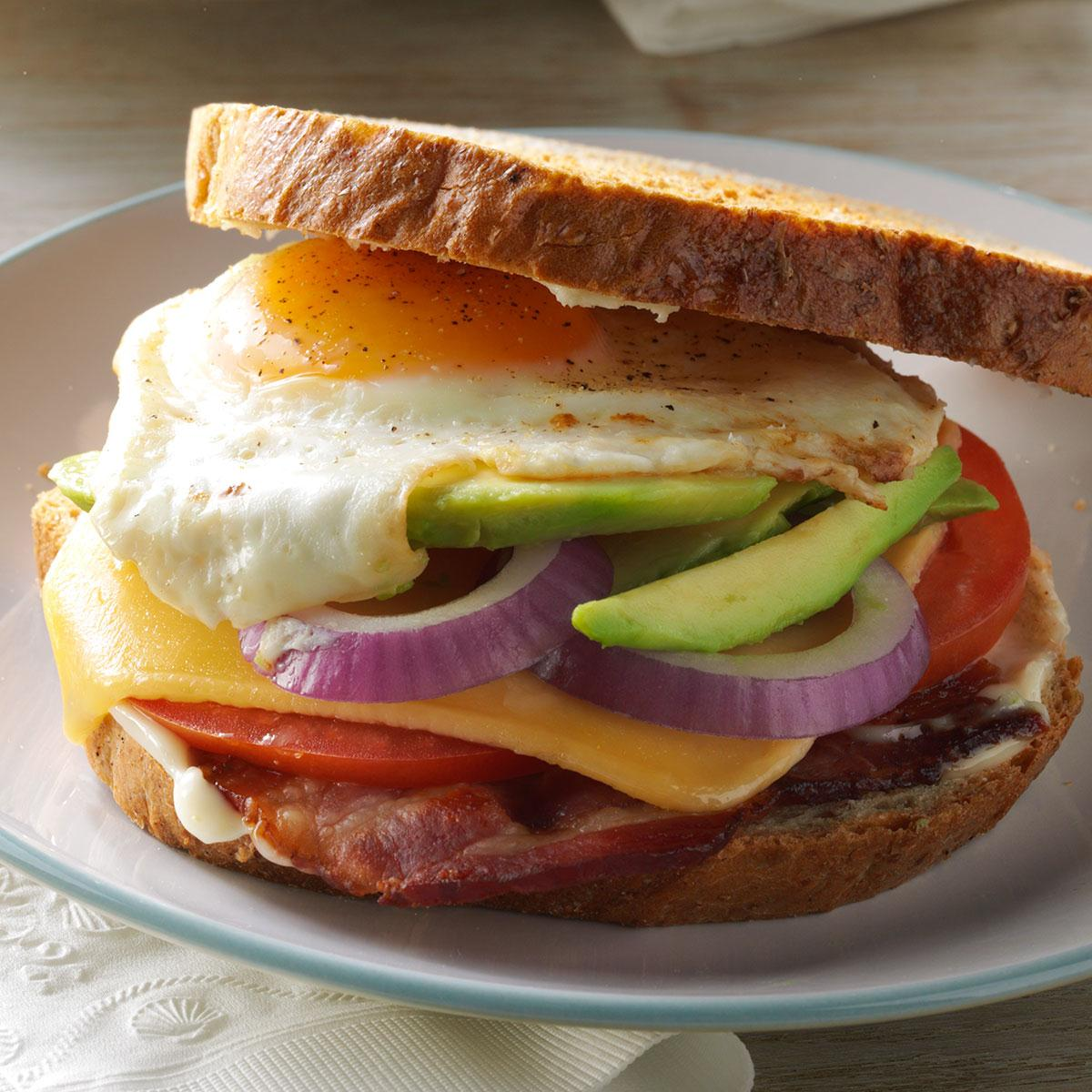 Bacon Egg Avocado Sandwiches Recipe How To Make It Taste Of Home
