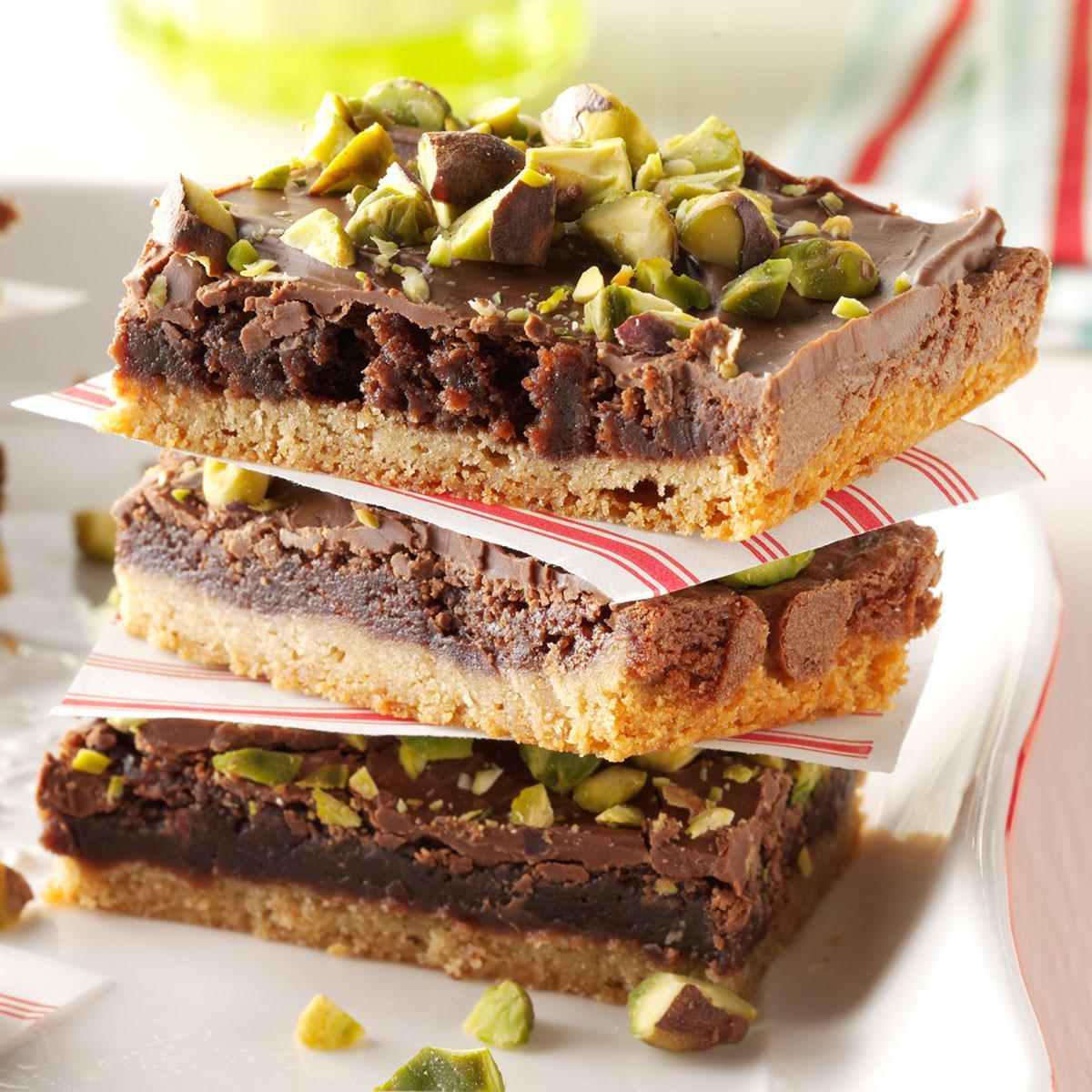 Pistachio Brownie Toffee Bars Recipe Taste Of Home