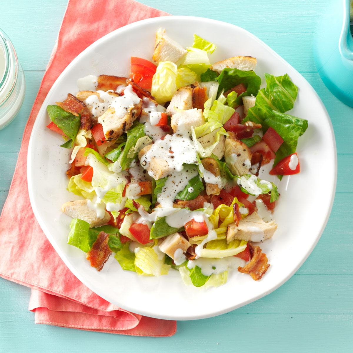Bacon Chicken Chopped Salad Recipe How To Make It Taste Of Home