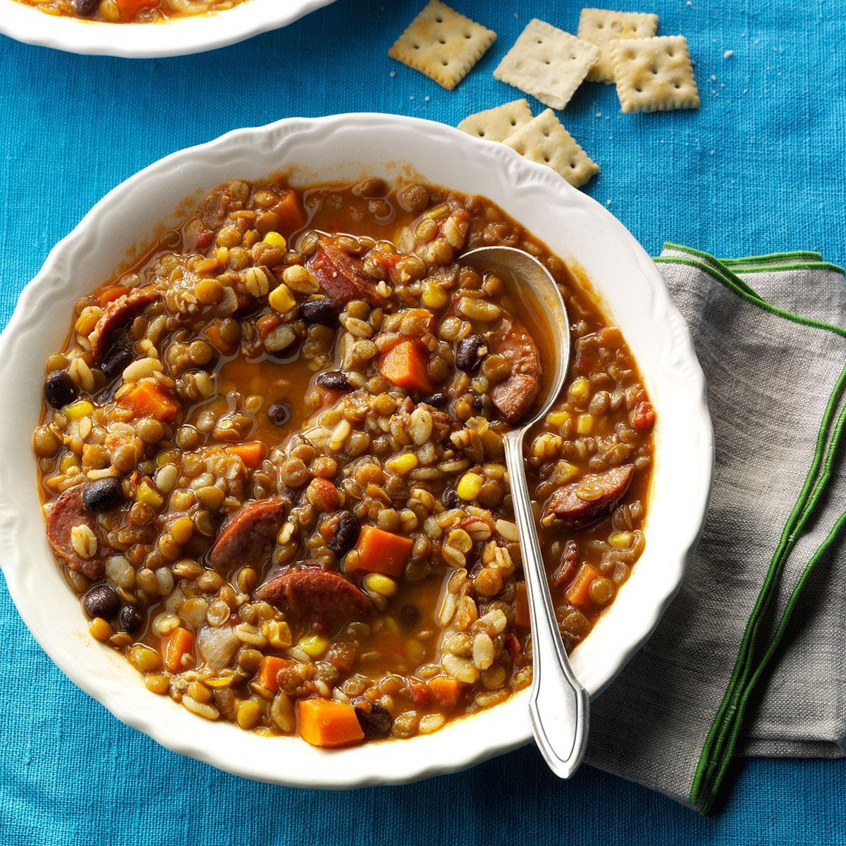 Southwest Barley & Lentil Soup image