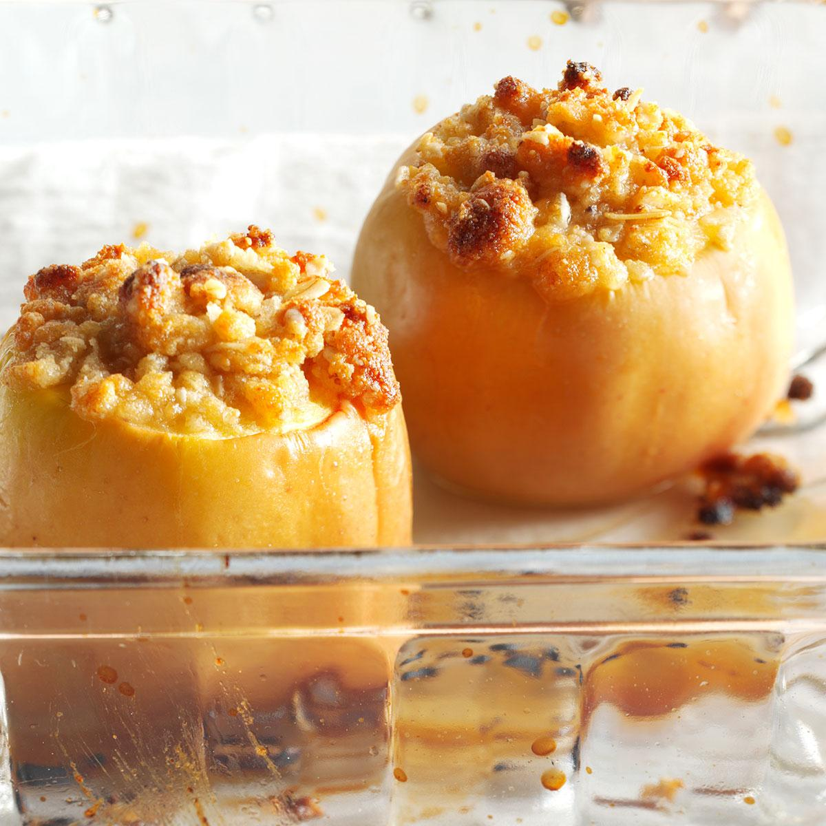 Parmesan Crisp Baked Apples Recipe How To Make It Taste Of Home