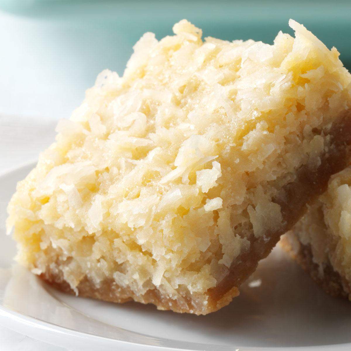 Buttery Coconut Bars image