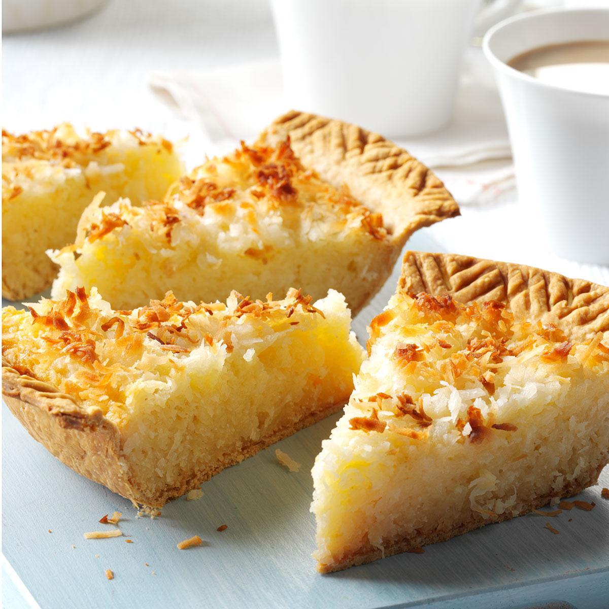 Coconut Macaroon Pie Recipe How To Make It Taste Of Home