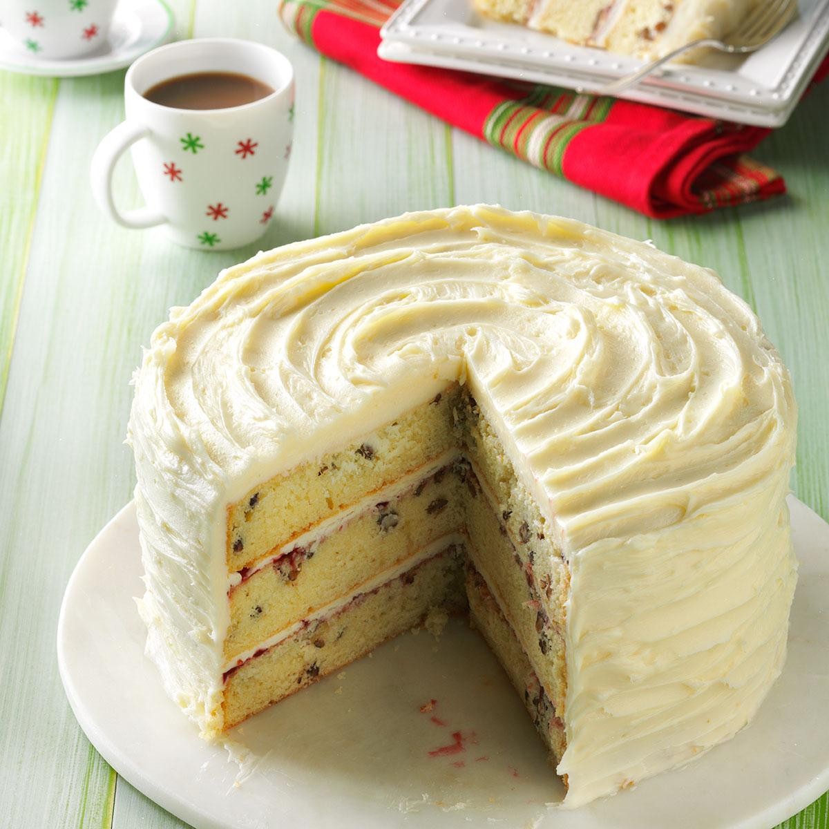 White Chocolate Christmas Torte Recipe Taste Of Home