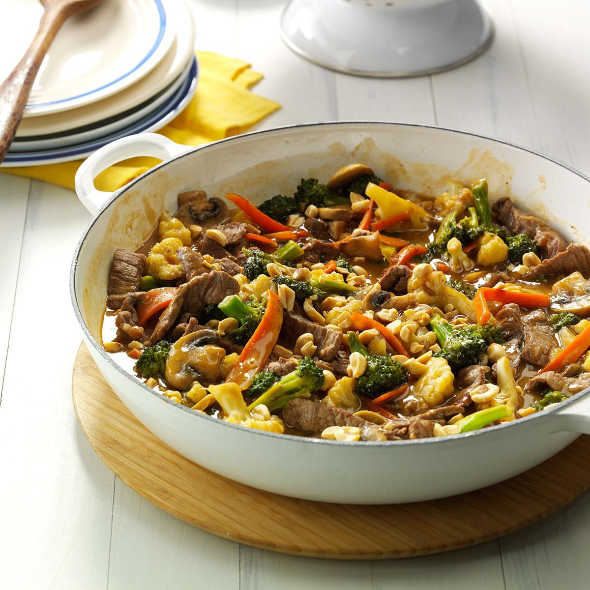 Thai Beef Stir Fry Recipe How To Make It Taste Of Home