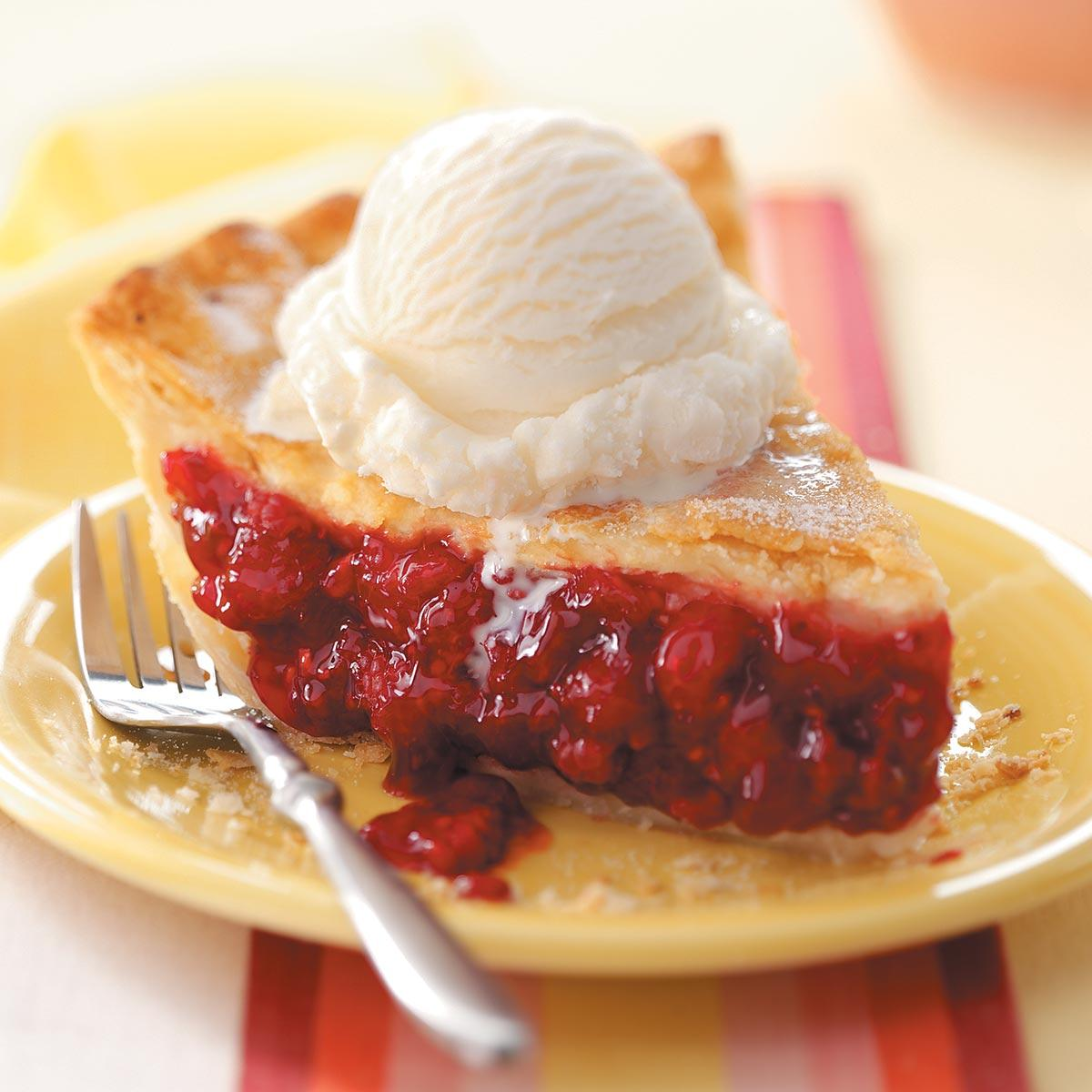 Favorite Fresh Raspberry Pie Recipe Taste Of Home