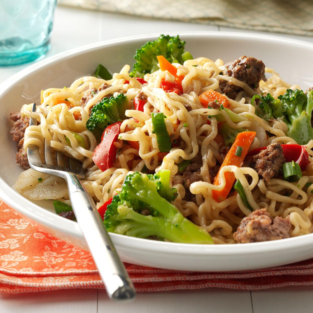 Asian Beef And Noodles Recipe How To Make It Taste Of Home