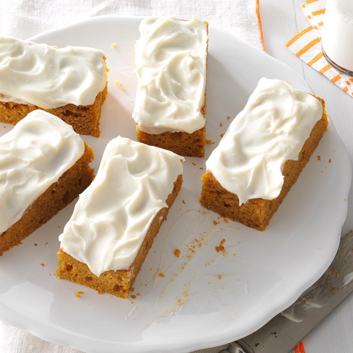 Pumpkin Bars Recipe Taste Of Home
