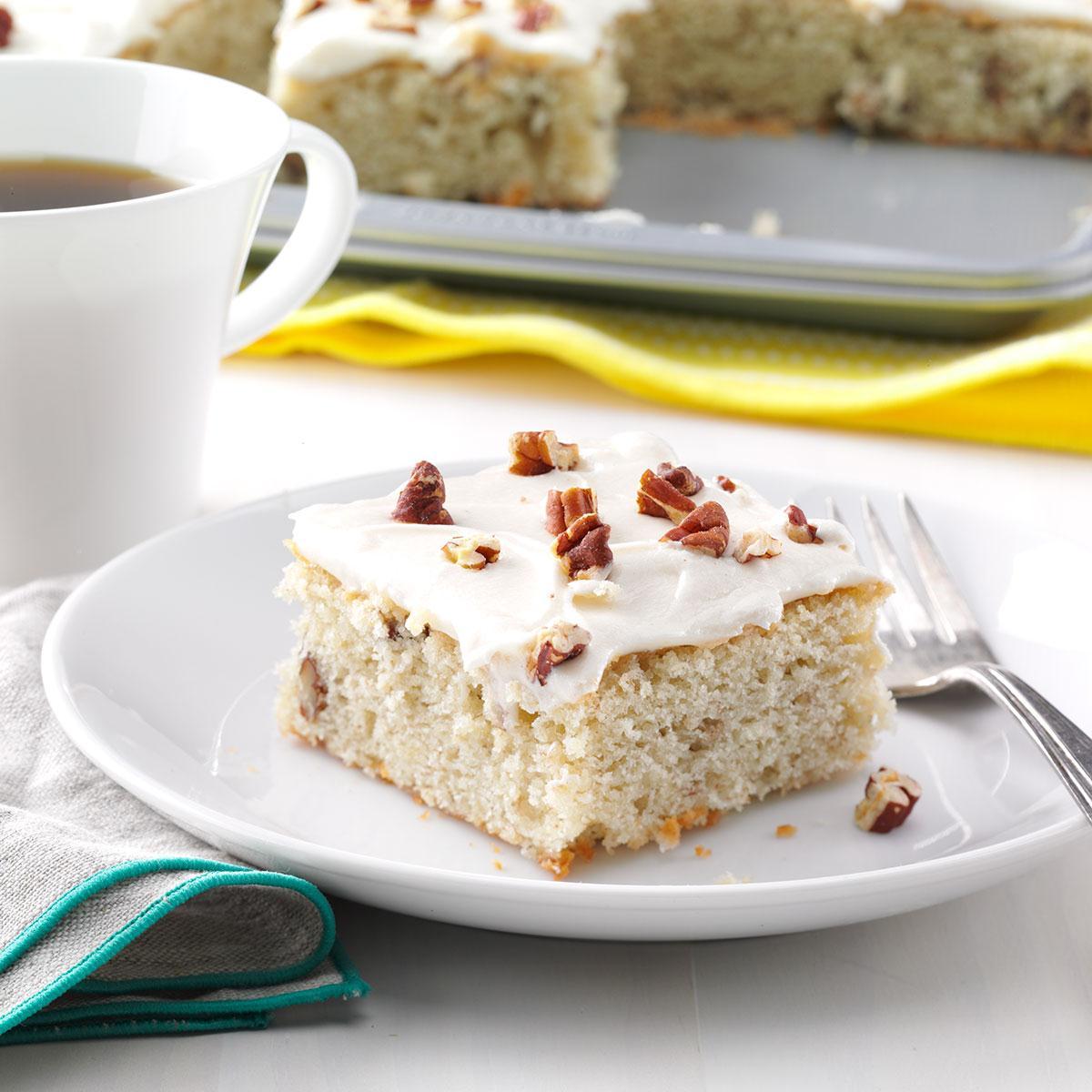 Banana-Pecan Sheet Cake
