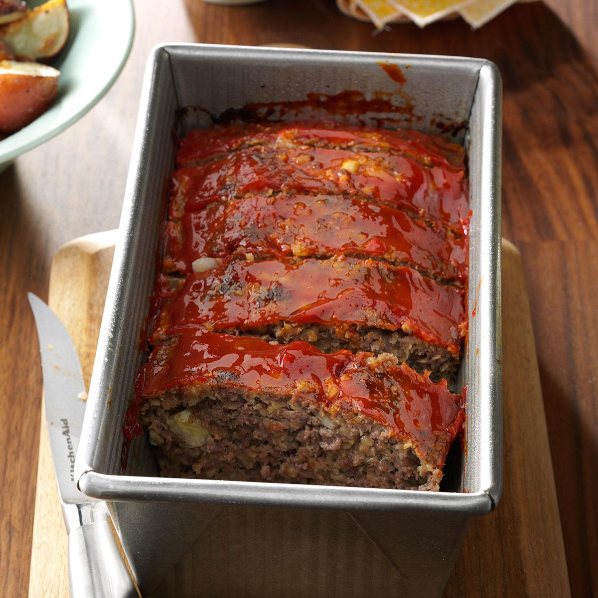 Meat Loaf With Oatmeal Recipe How To Make It Taste Of Home