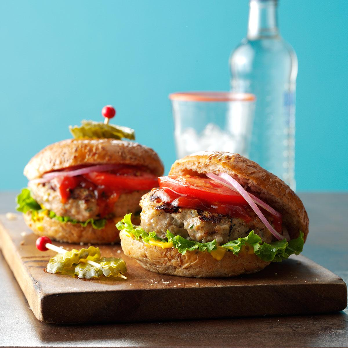 Grilled Ground Turkey Burgers Recipe How To Make It Taste Of Home