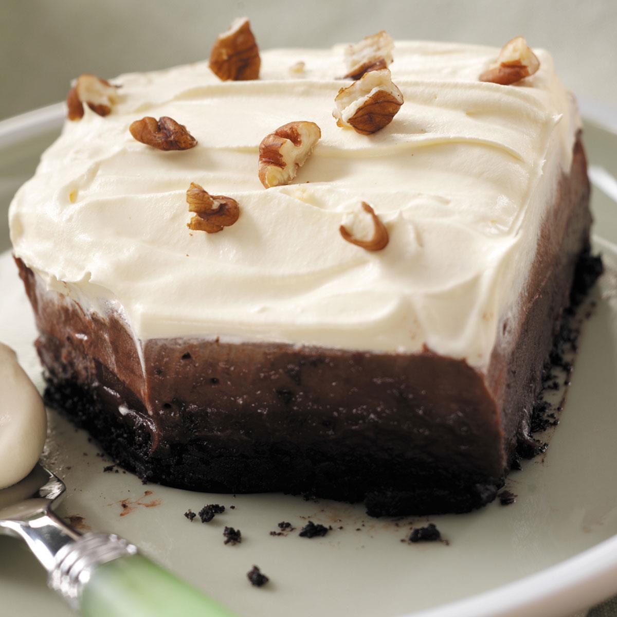Chocolate Cream Delight Recipe How To Make It Taste Of Home