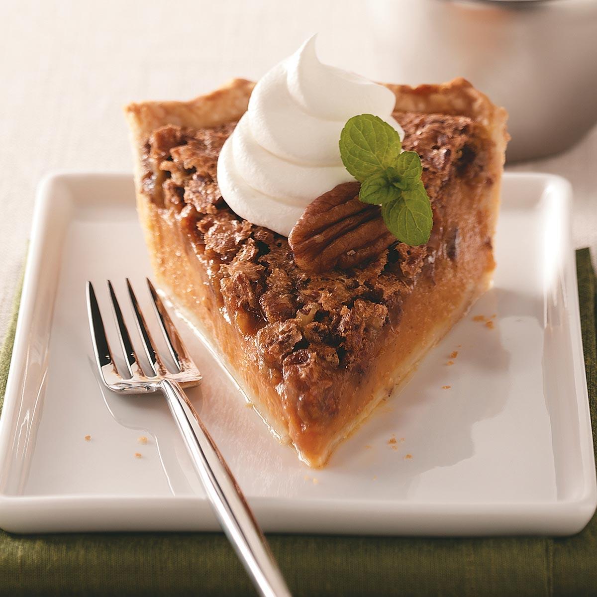 Pecan Pumpkin Pie image
