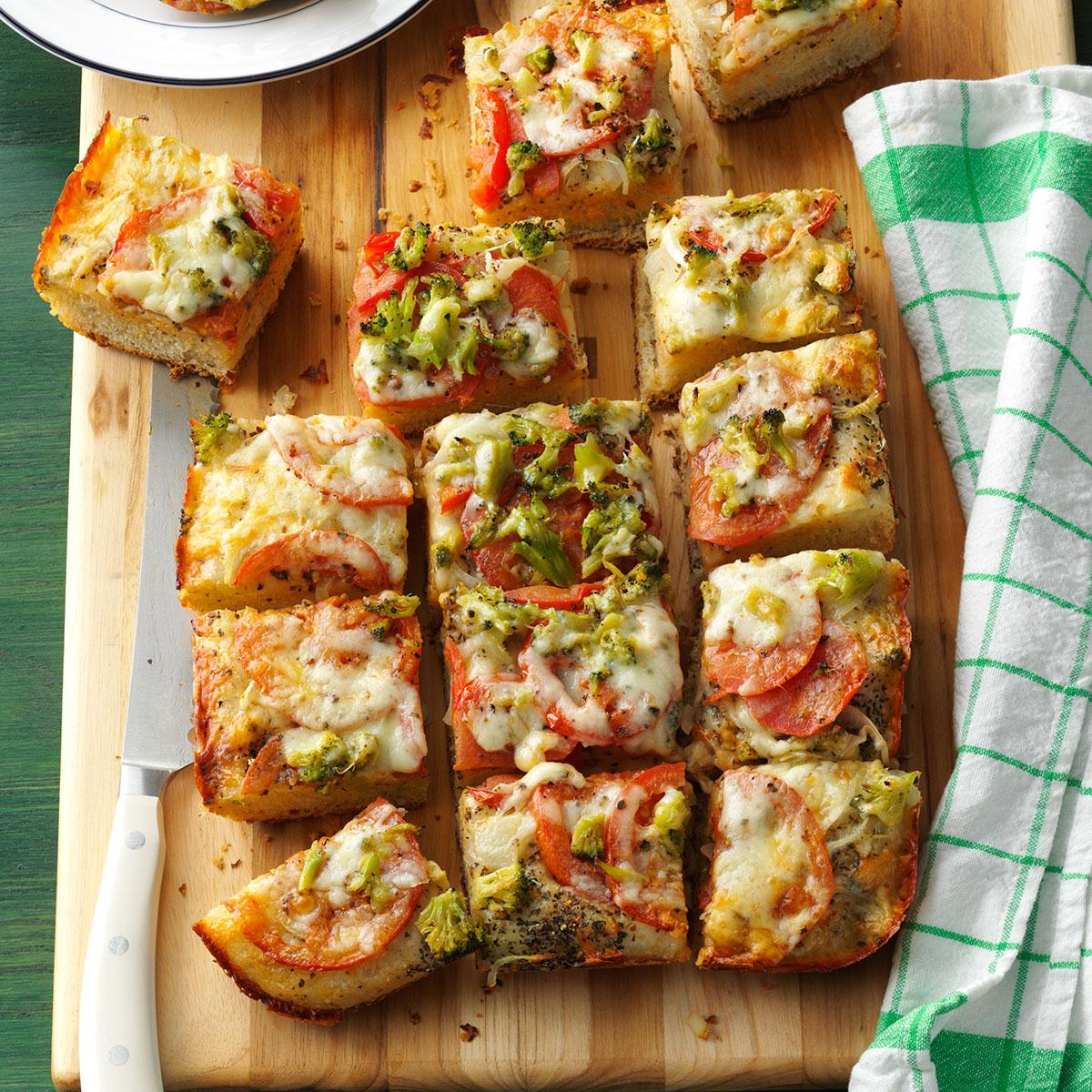 Vegetable Cheese Focaccia Recipe How To Make It Taste Of Home