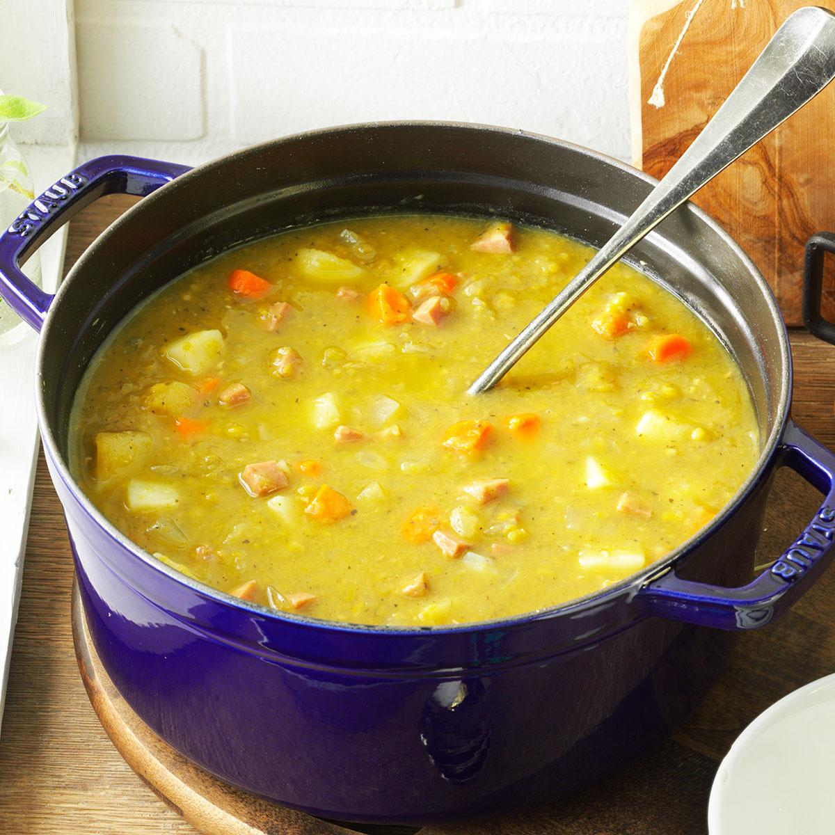 Split Pea Soup With Ham Recipe How To Make It Taste Of Home