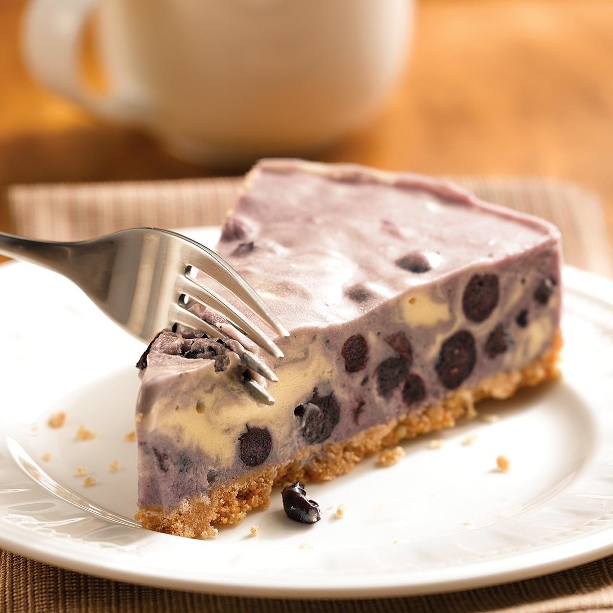 Blueberry Ice Cream Tart Recipe How To Make It Taste Of Home