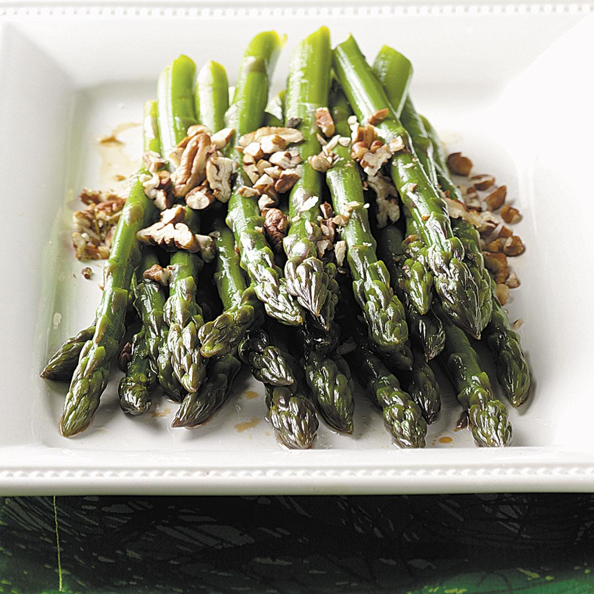 Fresh Asparagus with Pecans image