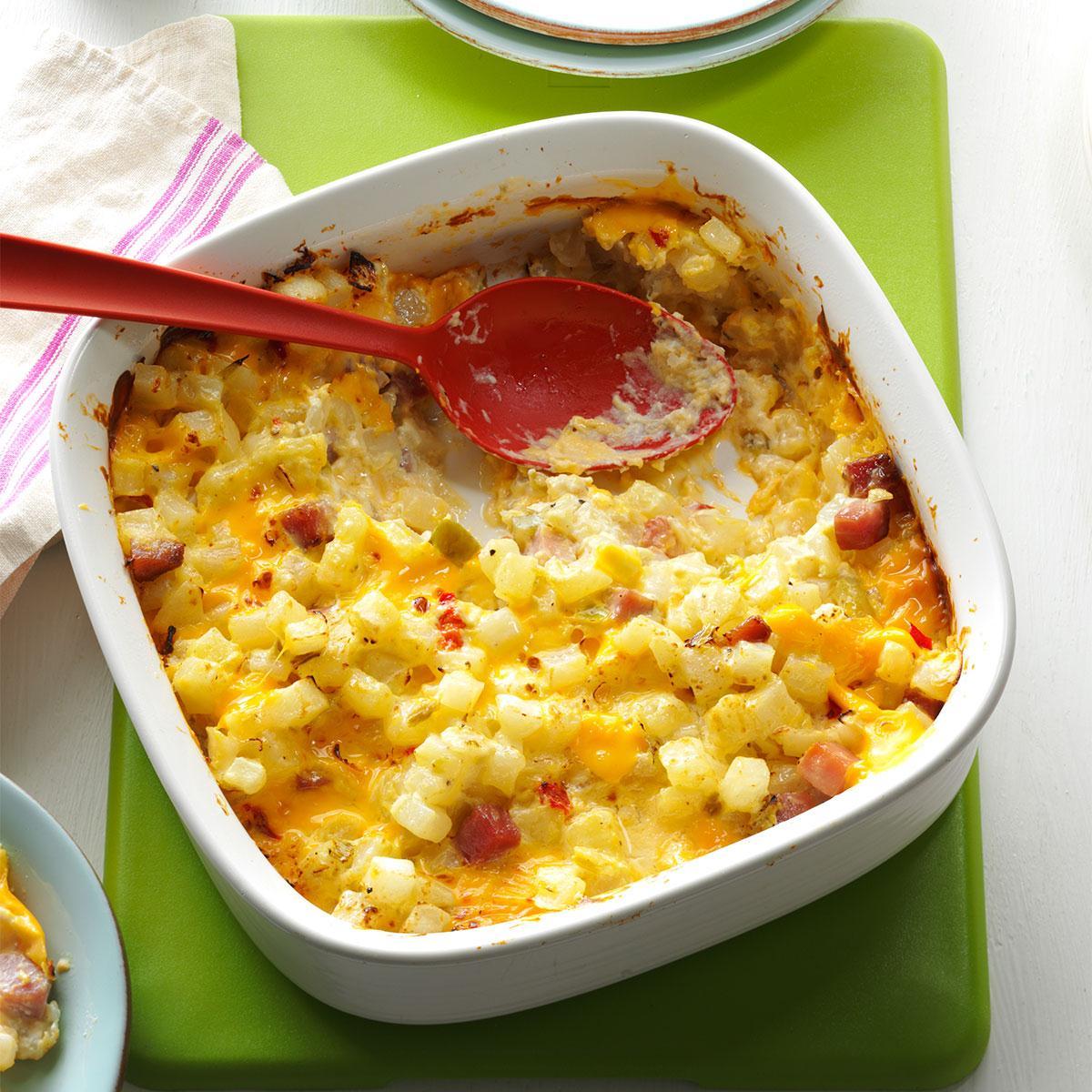 Ham Cheese Potato Casserole Recipe How To Make It Taste Of Home