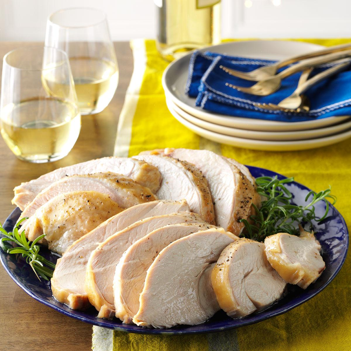 Moist Tender Turkey Breast Recipe How To Make It Taste Of Home