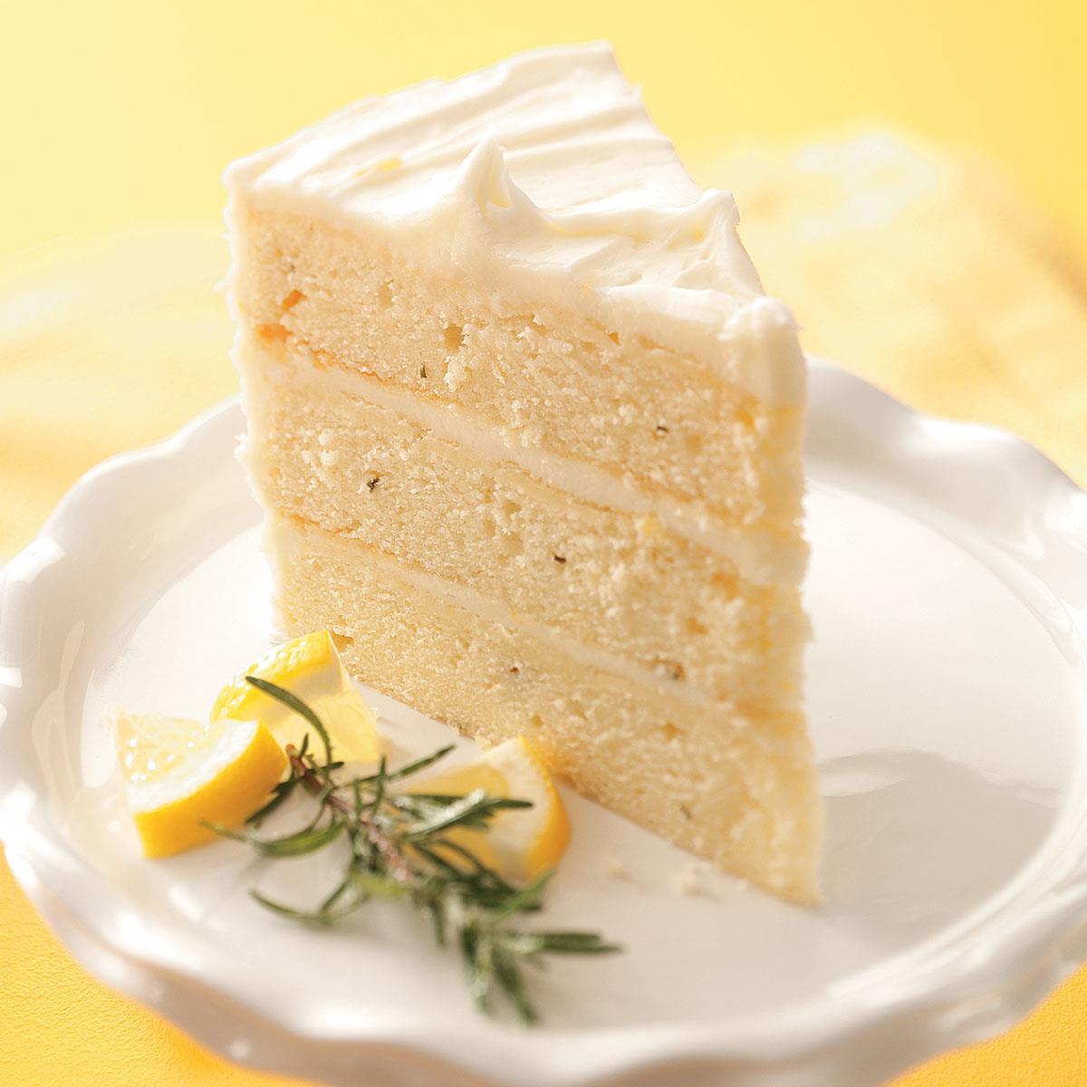 Lemon-Rosemary Layer Cake Recipe   Taste of Home