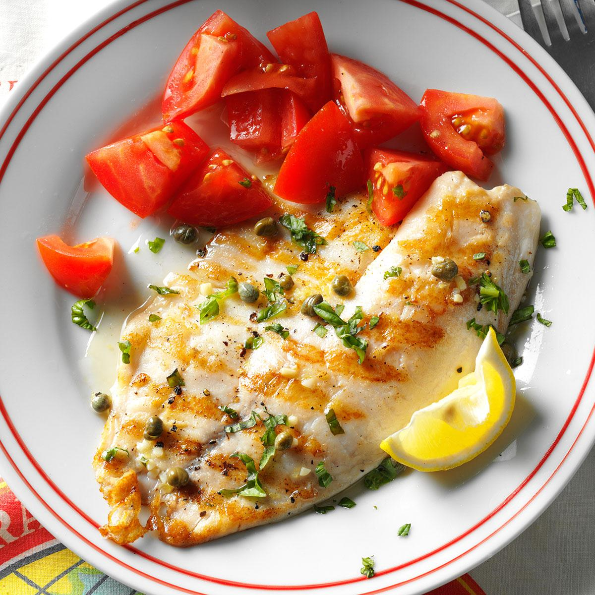 Grilled Tilapia Piccata Recipe How To Make It Taste Of Home