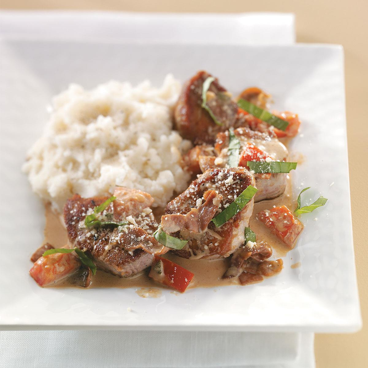 Tuscan Pork Medallions Recipe How To Make It Taste Of Home
