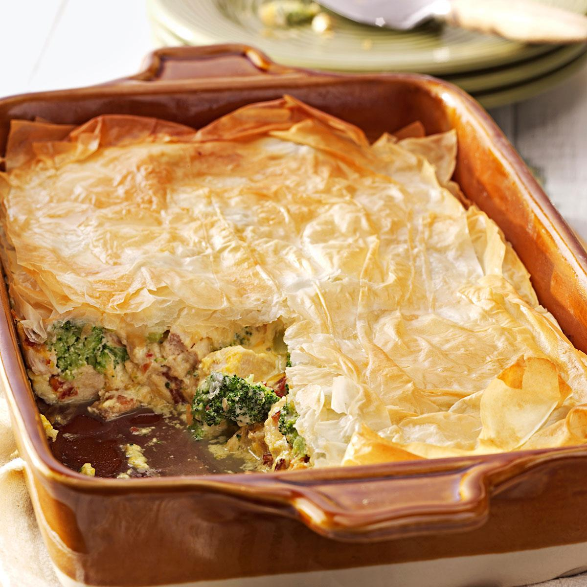 Phyllo Chicken Recipe How To Make It Taste Of Home