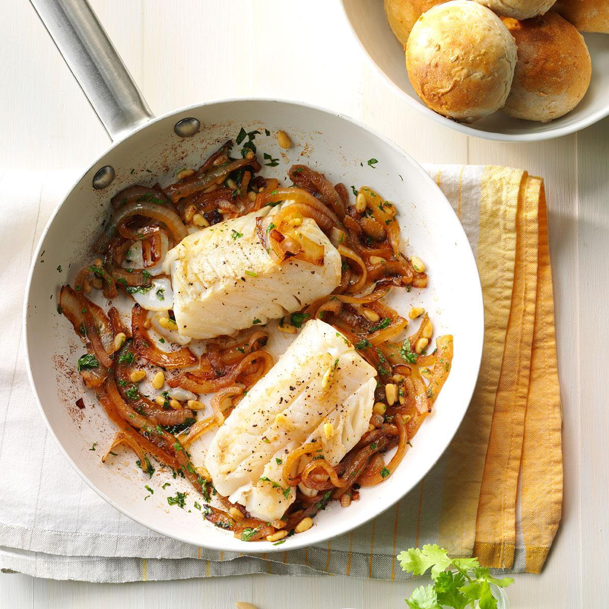 Pan Seared Cod Recipe How To Make It Taste Of Home