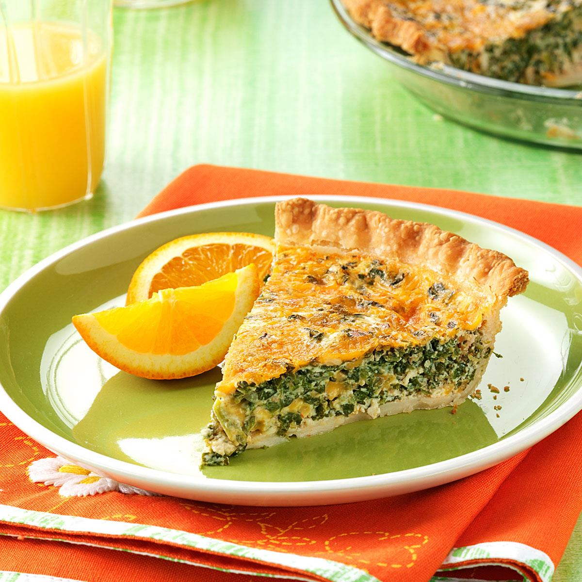 Spinach Bacon Quiche Recipe How To Make It Taste Of Home