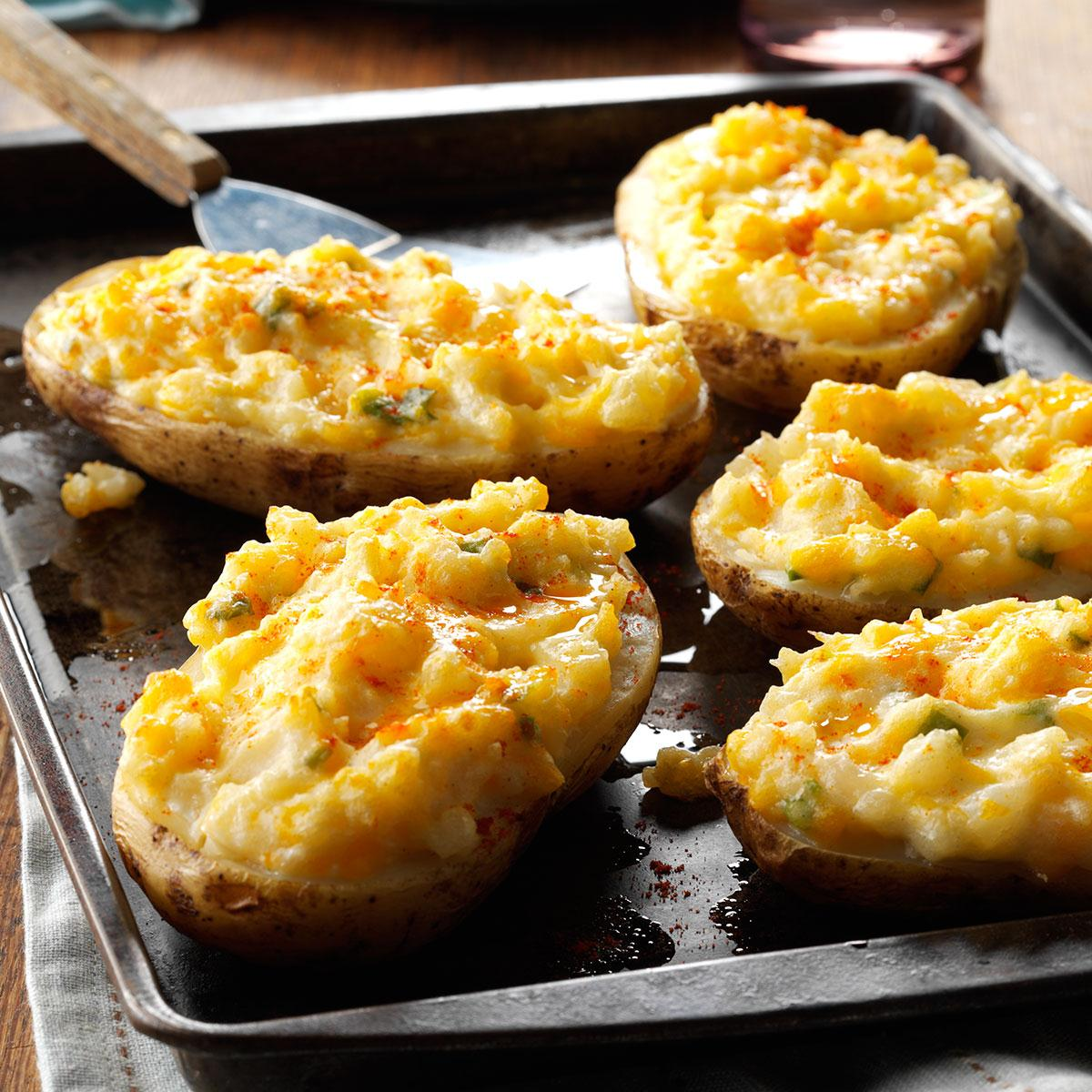Cheesy Stuffed Baked Potatoes Recipe: How to Make It | Taste of Home