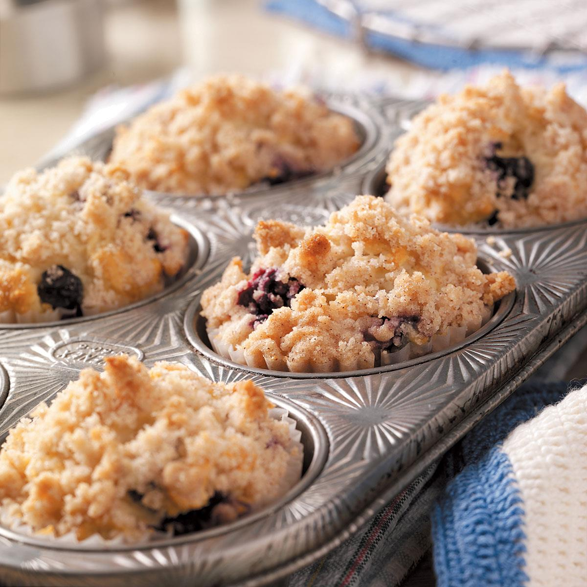 Blueberry Streusel Muffins Recipe Taste Of Home