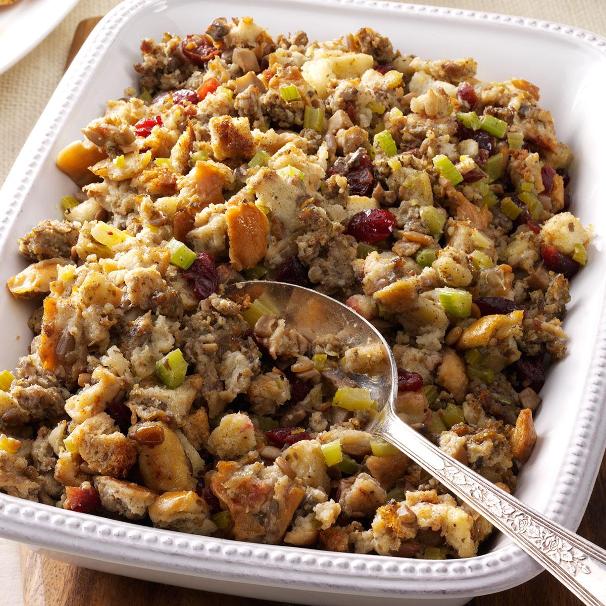 Savory Sausage Stuffing Recipe How To Make It Taste Of Home