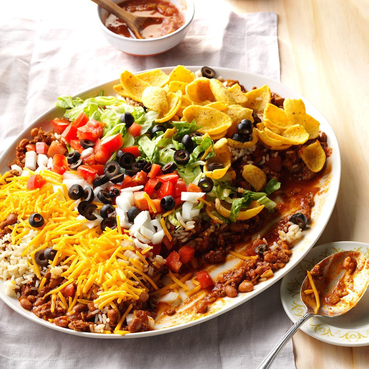 Taco Salad Dip Recipe Ground Beef