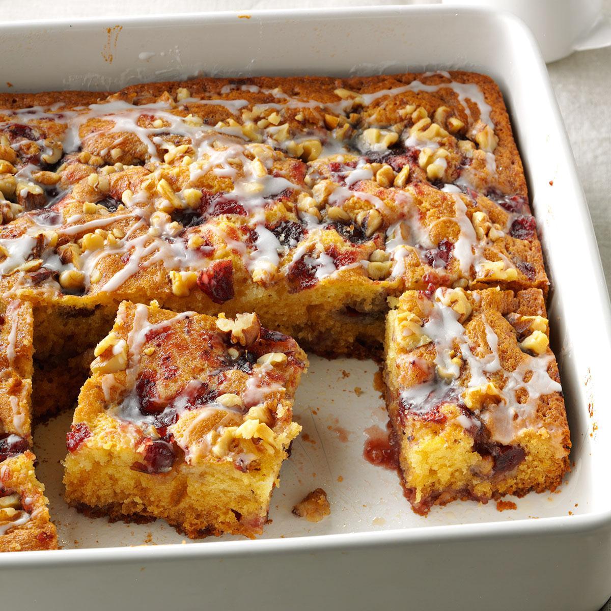 Pretty Cranberry Coffee Cake Recipe Taste Of Home