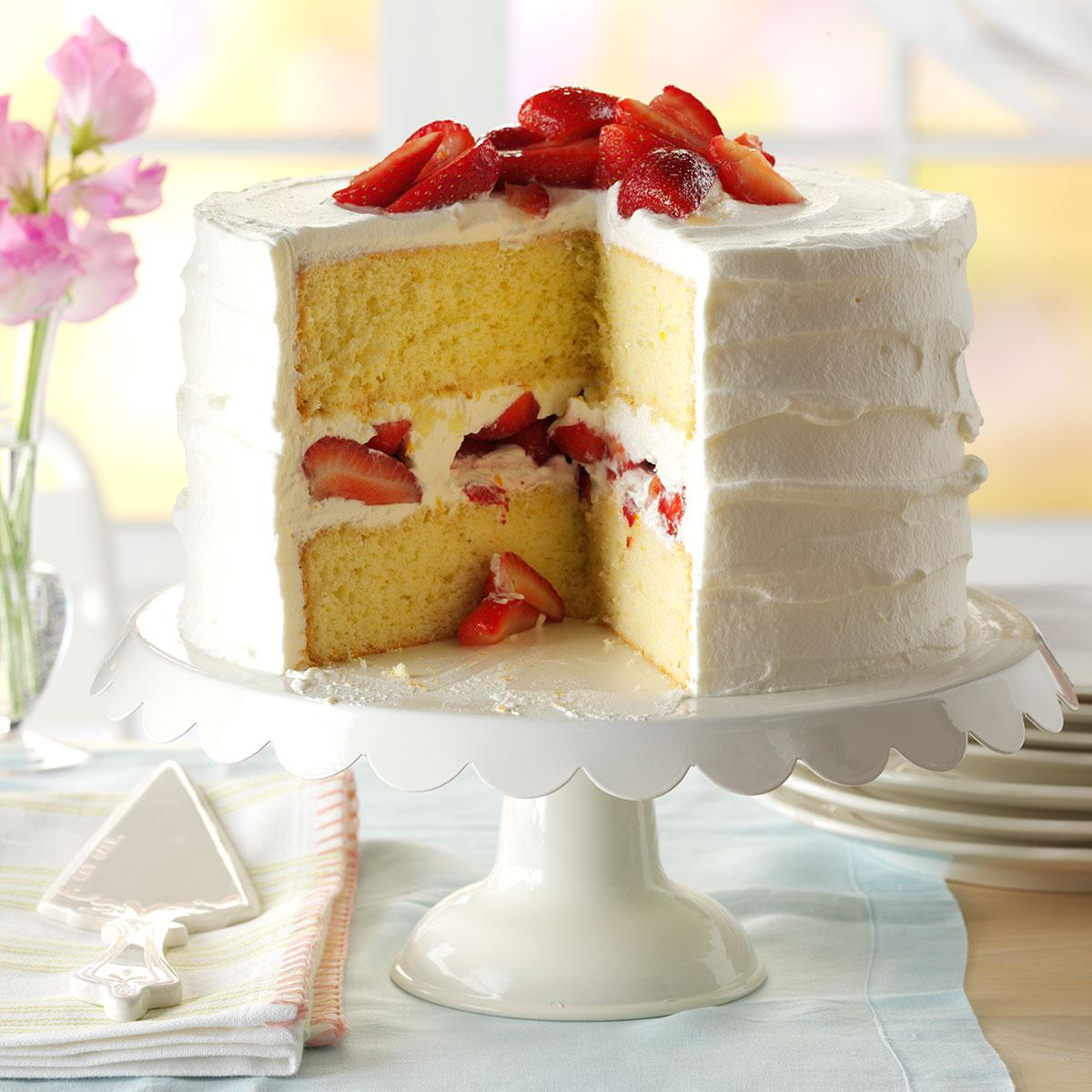 Strawberry Mascarpone Cake