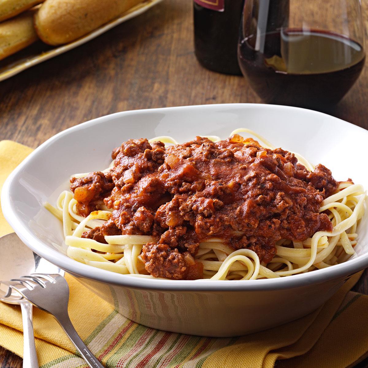 Savory Spaghetti Sauce Recipe How To Make It Taste Of Home