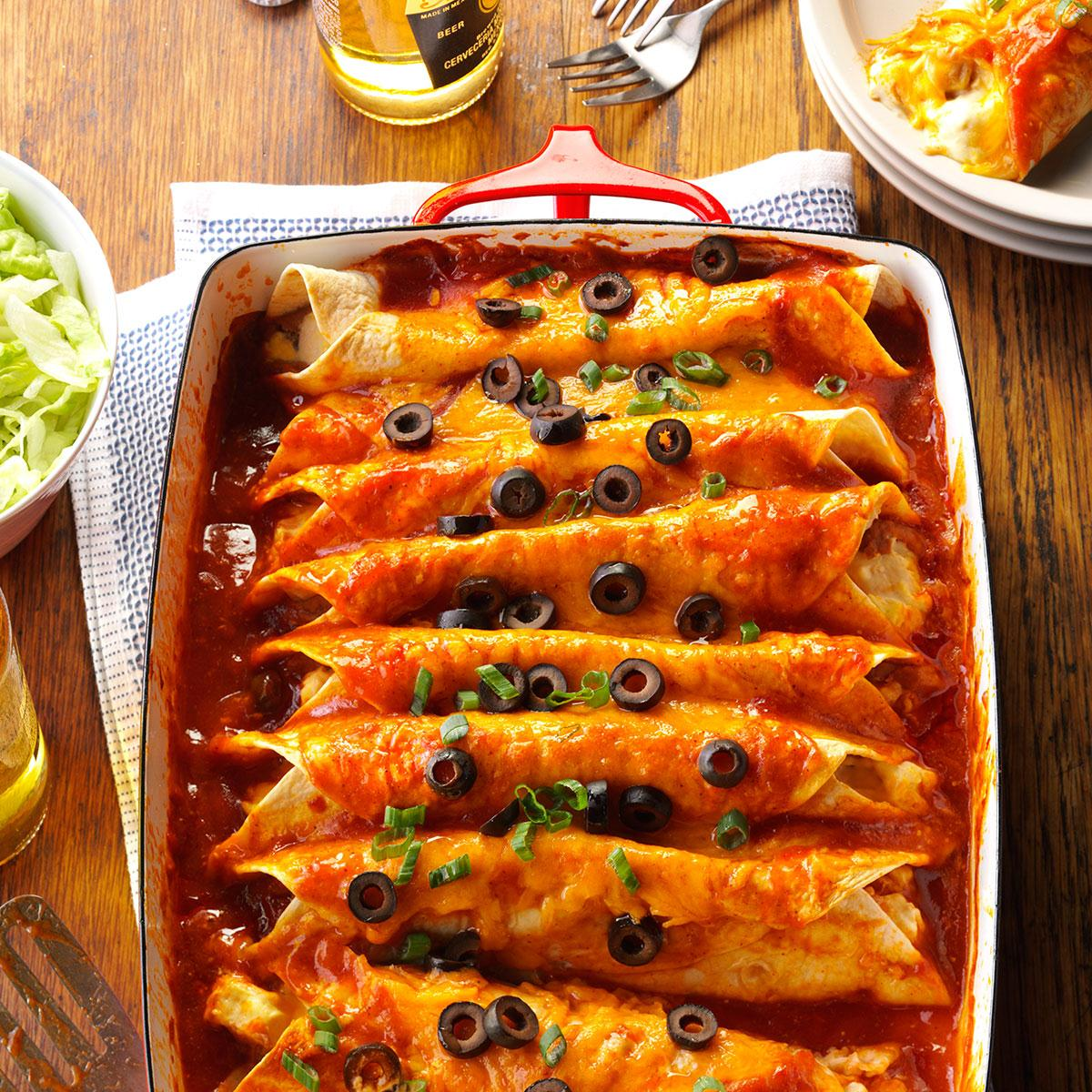 Zippy Chicken Enchiladas Recipe How To Make It Taste Of Home