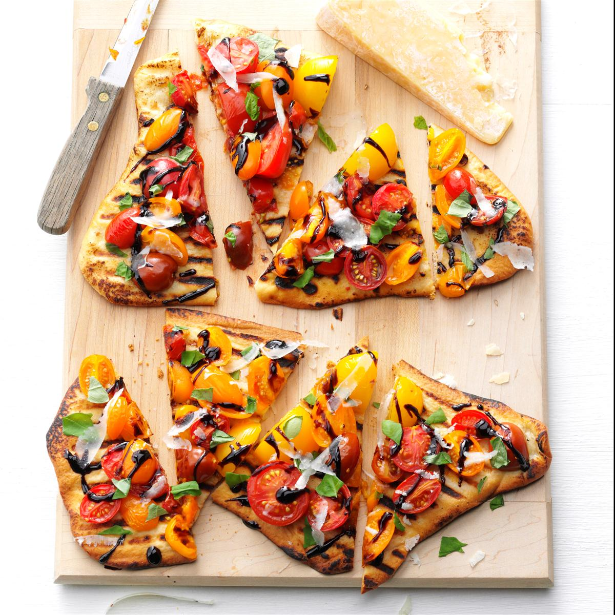Grilled Tomato Pizzas image