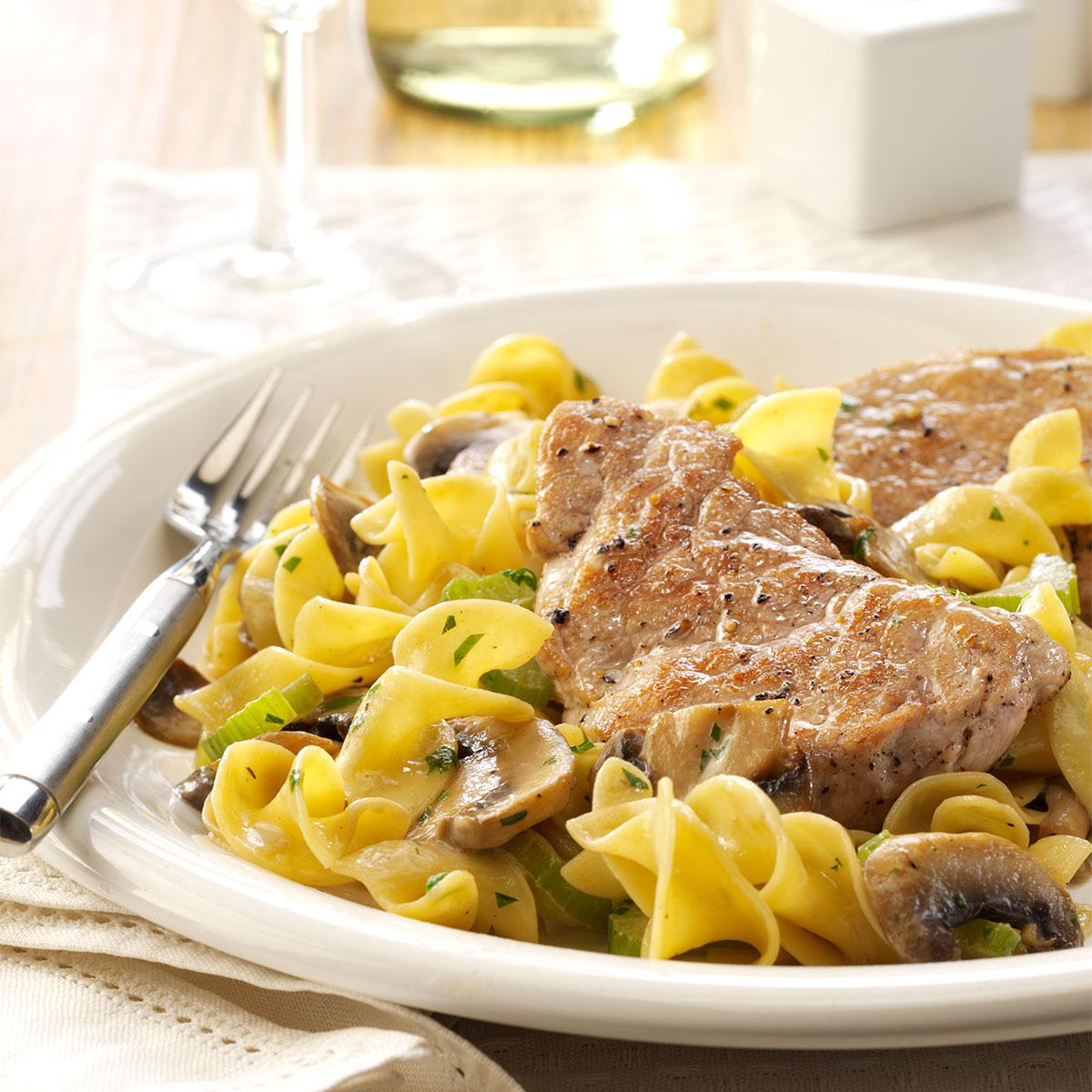 Pork Scallopini With Mushrooms Recipe How To Make It Taste Of Home