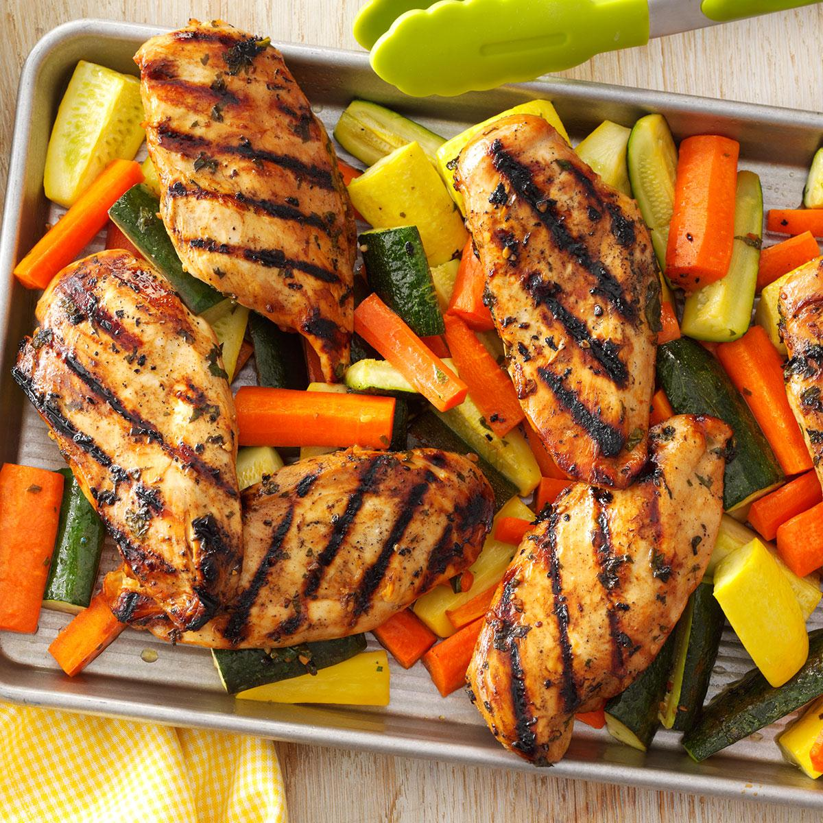 Apple-Marinated Chicken & Vegetables Recipe: How to Make It   Taste of Home