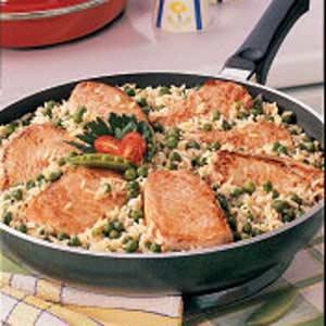 Pork Chops Over Rice image