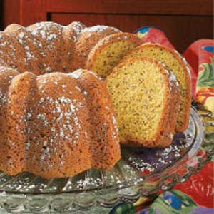 Coconut Poppy Seed Bundt Cake image