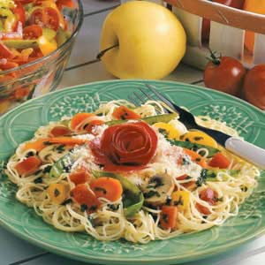 Angel Hair Pasta with Garden Vegetables image