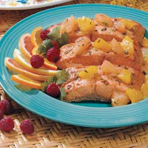 Salmon with Citrus Salsa image